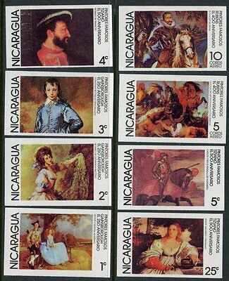 Nicaragua Famous Paintings  Scott#1066/71, C932/33  Set Imperforated  Mint Nh