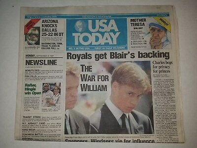 PRINCESS DIANA DEATH Newspaper September , 1997 San Bernardino The