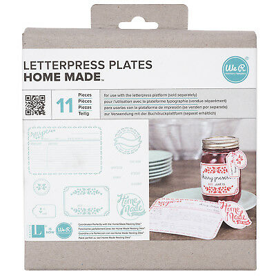 American Crafts We R Memory Keepers Letterpress Plate Set - Home Made, 11 Pieces