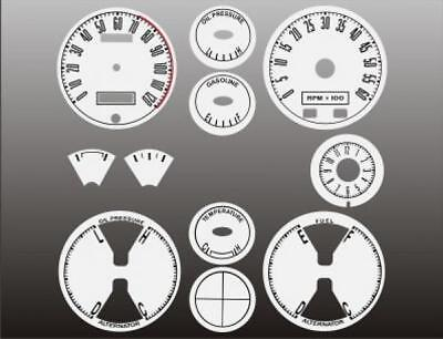 1967-1968 Ford Mustang Dash Instrument Cluster White Face Gauges 67-68