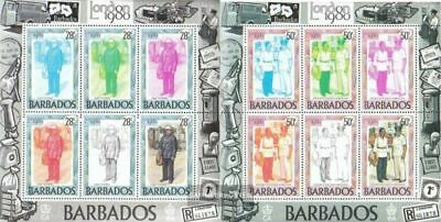 barbados 502-508 Sheetlet unmounted mint / never hinged 1980 Stamp Exhibition