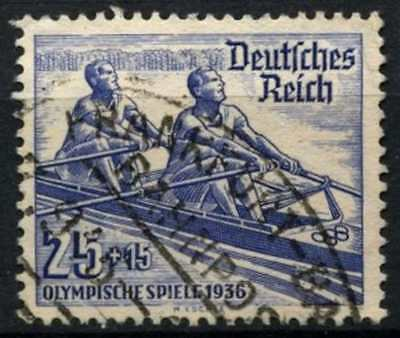 Germany Third Reich 1936 SG#612, 25pf + 15pf Summer Olympic Games Used #D74127