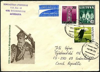 Lithuania 1993 Airmail Cover To Czech Republic #C45055
