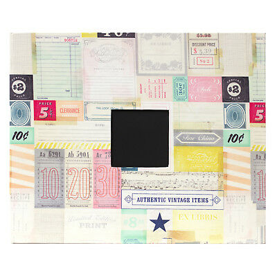 "American Crafts Hey Little Magpie Cloth D-Ring 12"" x 12"" Album w/ Cover Window"