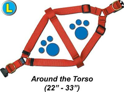 "Step-In Pet / Dog Harness - Large 22 - 33"" - Assorted colors - PTHAQR2"
