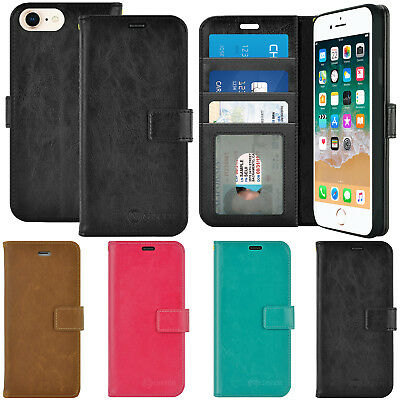 For Apple iPhone 6s 7 8 Plus Luxury Leather Wallet Flip Stand TPU Case Cover