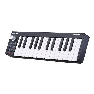 Worlde Easykey.25 Velocity-Sensitive Mini-Keyboard Keys USB MIDI Q4R0