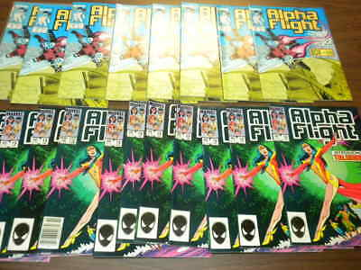 19 issues ALPHA FLIGHT #19 & #63 Marvel Comics 1985 dealer/investor LOT