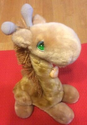 "14"" Vintage Applause Precious Moments Alfred Plush Giraffe - Heart Locket"