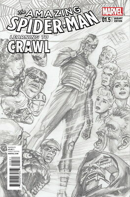 Amazing Spider-Man Learning To Crawl #1.5 Alex Ross 1:200 Sketch Variant B&W