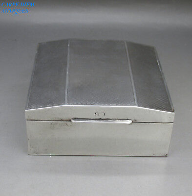 VINTAGE GOOD SOLID STERLING SILVER CIGARETTE BOX BY HENRY MATTHEWS 170g 1928