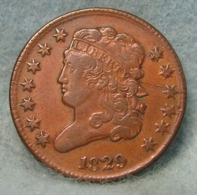 1829 Classic Head Half Cent VF+ Details Rotated Reverse * US Coin *
