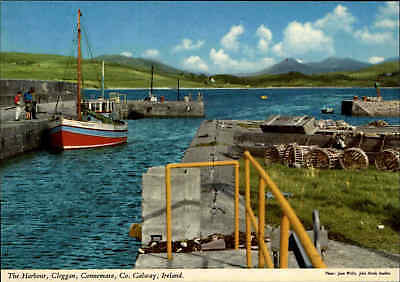 Post Card IRELAND Irland CLEGGAN Co. Galway County Fishing Port, Fischerboot AK
