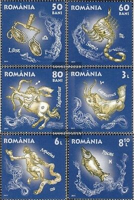 Romania 6564-6569 (complete.issue.) unmounted mint / never hinged 2011 Zodiac
