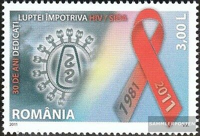 Romania 6535 (complete.issue.) unmounted mint / never hinged 2011 Discovery AIDS