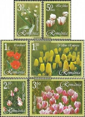 Romania 6055-6060 (complete.issue.) unmounted mint / never hinged 2006 Tulips