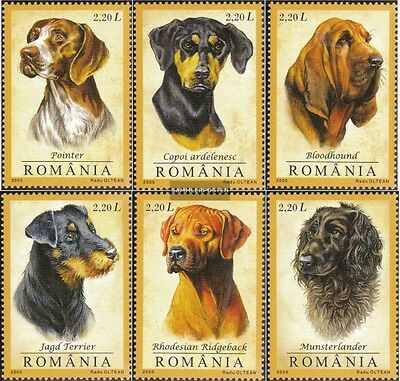 Romania 5982-5987 (complete.issue.) unmounted mint / never hinged 2005 Hounds