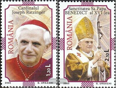 Romania 5972-5973 (complete.issue.) unmounted mint / never hinged 2005 Pope Bene