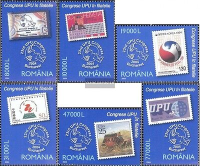 Romania 5857-5862 (complete.issue.) unmounted mint / never hinged 2004 UPU-congr