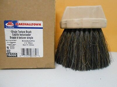 "5"" round Marshalltown Drywall Texture Brush Single Hand Texturing Wall Ceiling"