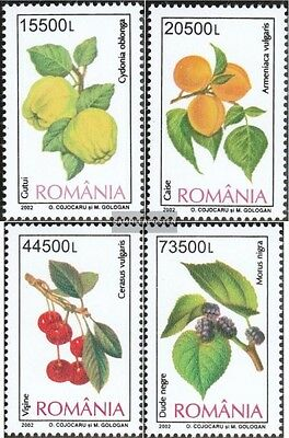 Romania 5694-5697 (complete.issue.) unmounted mint / never hinged 2002 Fruits