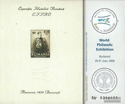 Romania Block427 (complete.issue.) unmounted mint / never hinged 2008 Briefmarke