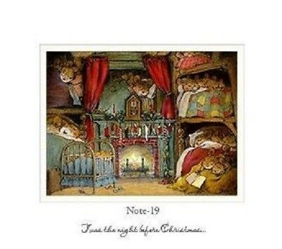Wee Forest Folk Note#19 Twas The Night Before Note Card - Set of 6