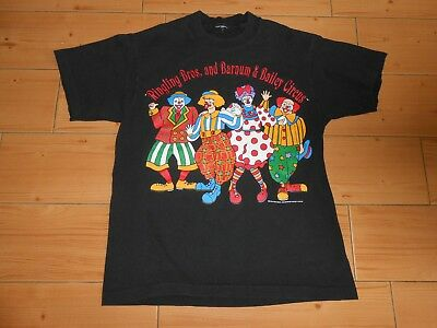 Vtg 90's RINGLING BROS BARNUM BAILEY Circus T-Shirt Great Clown Graphics S-M