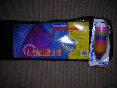 Cooper Badminton Set for Backyard Brand New 4 Rackets Net Case Outdoors