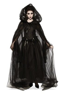 Rubies Black Hooded Emo Punk Vampire Gothic Adult Halloween Costume Cape 34295