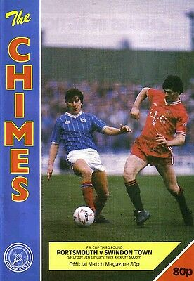 Football Programme>PORTSMOUTH v SWINDON TOWN Jan 1989 FAC
