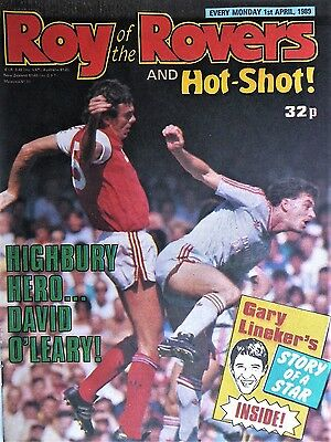 Roy of the Rovers 01/04/89 old football comic leicester city,s & west brom playe