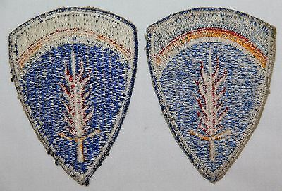 Lot Of 2 Original Post Wwii Occupation U.s. Army Europe Patches, Nice White Back