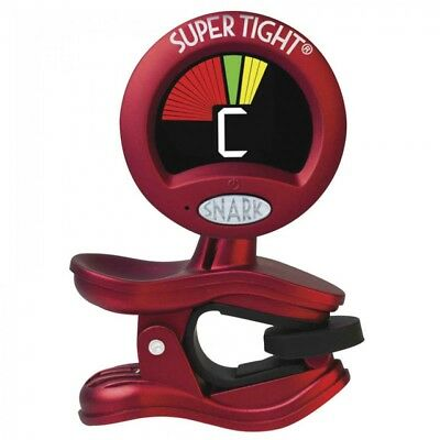 Snark Clip-On Supertight Chromatic All-Instrument Tuner / Metronome - St2 - Red