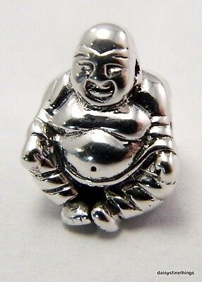 New/tags Authentic Pandora Silver Charm Smiling Buddha   #790478  Retired