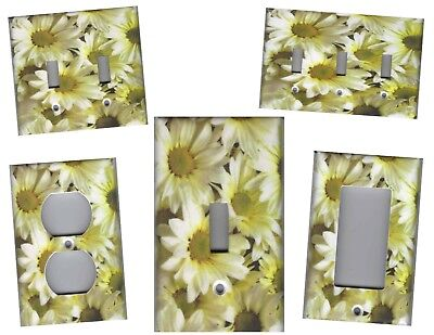Daisies Home Wall Decor Light Switch Plates And Outlets