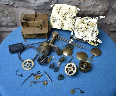 Job Lot of Clock Parts,Movements,Wheels,Cogs,pendulums,Steampunk,Altered Crafts