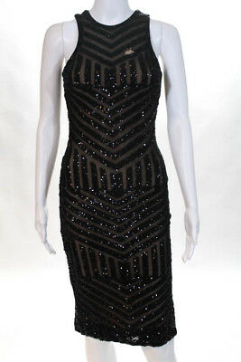 949cf569a363d Slate & Willow Black Susie Sequin Dress MSRP $376 Size Extra Small 10430484
