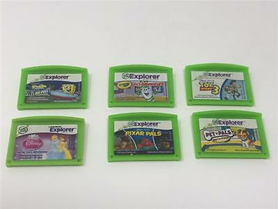 Lot of 6 LEAP FROG LEAPSTER EXPLORER Games - All tested/Exc Working Condition