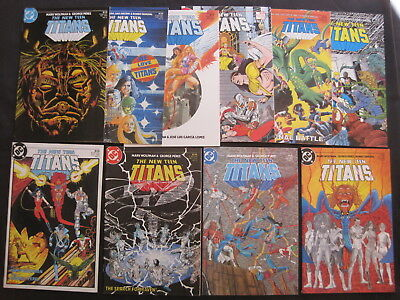 The New TEEN TITANS  issues 1 - 11 of DC 1984 CLASSIC  SERIES by WOLFMAN & PEREZ