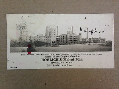 Antique 1914 Horlick's Malted Milk Racine, Wisconsin Ink Blotter