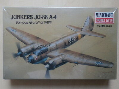 MINICRAFT MODEL KITS , Nr. 14407 , JUNKERS JU-88 A-4 , 1:144
