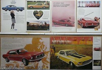 1967 1968 Ford Mustang Ad Lot (6)