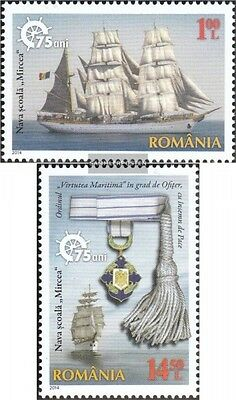 Romania 6816-6817 (complete.issue.) unmounted mint / never hinged 2014 Segelschu