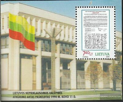 Lithuania block18 (complete.issue.) unmounted mint / never hinged 2000 Independe