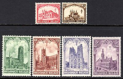 (243)     Belgium 1928 Anti Tuberculosis Fund Set SG472-77 M/Mint