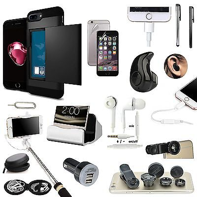 All x Case Charger Bluetooth Earphones Lens Monopod Accessory For iPhone 7 Plus
