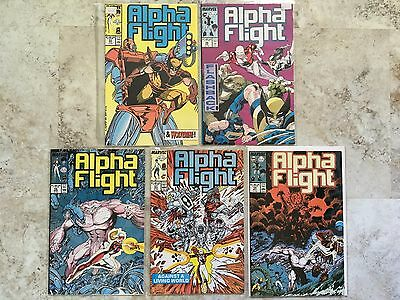 ALPHA FLIGHT - 5 Issue Lot  52 53 56 57 58  Wolverine Marvel Comics