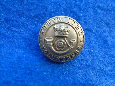 Victorian North Riding Of Yorkshire Rifle Volunteers Sweetheart Button, Pearce