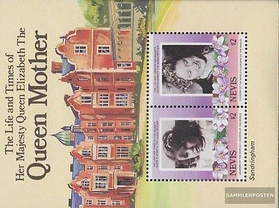 Nevis block5 (complete.issue.) unmounted mint / never hinged 1985 queen mother E